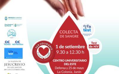 COLECTA DE SANGRE, TESTEO HIV Y OLFATEST EN EL CENTRO UNIVERISTARIO DE LA COLONIA